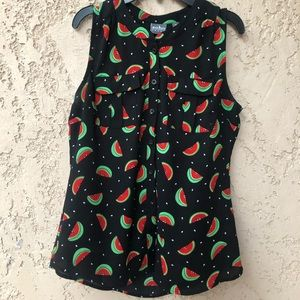NEW YORK AND COMPANY SUMMER WATERMELON TOP